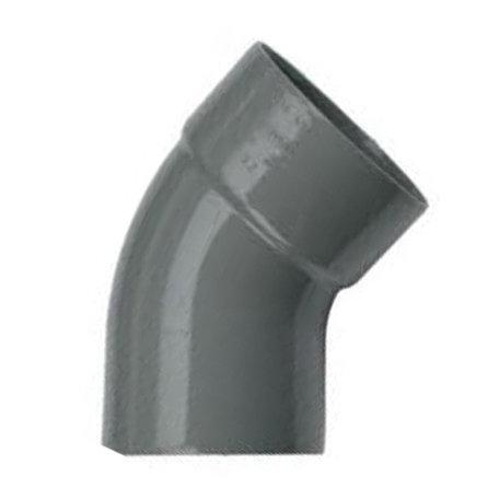 Pvc bocht 32 mm 45° - 1 x lijm mof x 1 spie