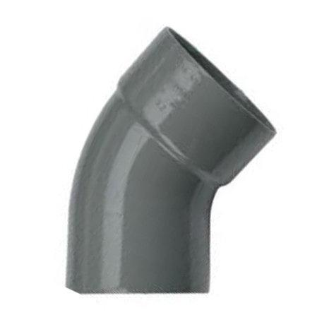 Pvc bocht 50 mm 45° - 1 x lijm mof x 1 spie