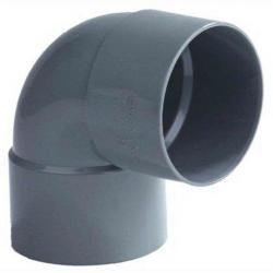 Pvc bocht 110 mm 88° - 2 x lijm mof
