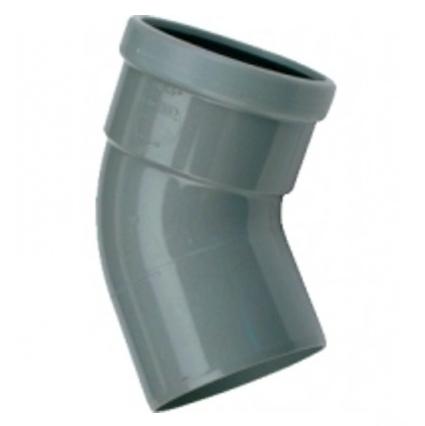 PVC bocht 110 mm 45° - manchet mof/spie