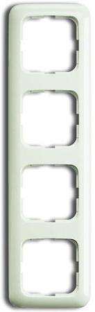 Busch-Jaeger afdekraam - 4 voudig - kleur créme - BJ 2514-212