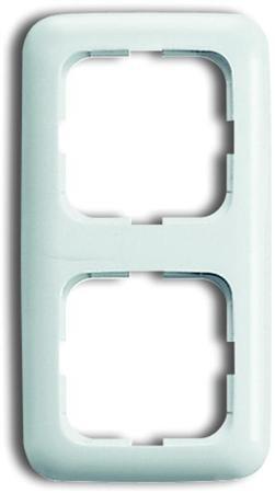 Busch-Jaege - Afdekraam 2 voudig - kleur r-alpin wit - BJ 2512-214