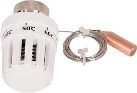 Thermostaatknop met capillair leiding en voeler voor CV-Compleet vloerverwarming verdeler