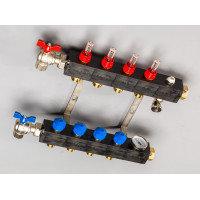 Top-Flow kunststof verdeler PRO 4 groepen inclusief adapters 16 mm