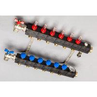 Top-Flow kunststof verdeler PRO 7 groepen inclusief adapters 16 mm