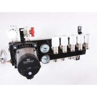 Top-Flow vloerverwarming verdeler 5 groepen met Grundfos Alpha 2 L energiezuinige pomp