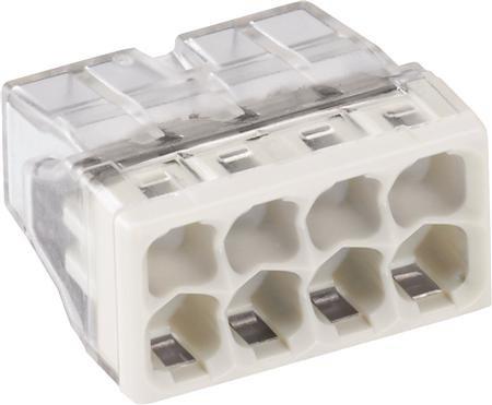 WAGO Transparante lasklem 8 voudig grijs - doos á 100 stuks