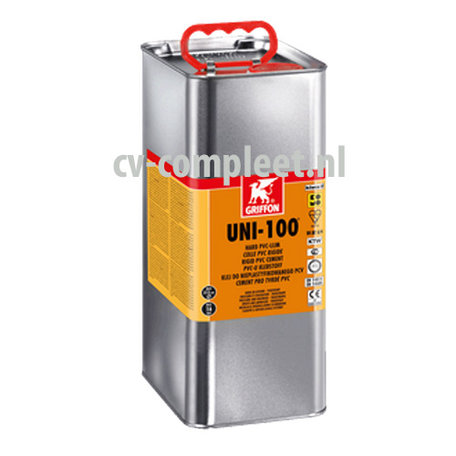 Uni-100 pvc lijm met kiwa keur, bus á 5 liter