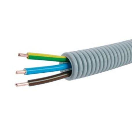 Voorbedrade Flexbuis 16 mm  3 x 2,5 mm² -  bruin, - blauw - geel/groen - rol á 100 meter