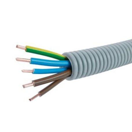 Voorbedrade Flexbuis 16 mm  5 x 2,5 mm² -  2 x bruin - 2 x blauw - 1 x geel/groen - rol á 100 meter
