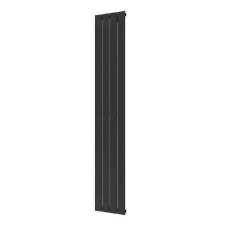 Plieger Cavallino Retto 1800 x 298 mm (614 watt) kleur antraciet metallic middenonder aansluiting