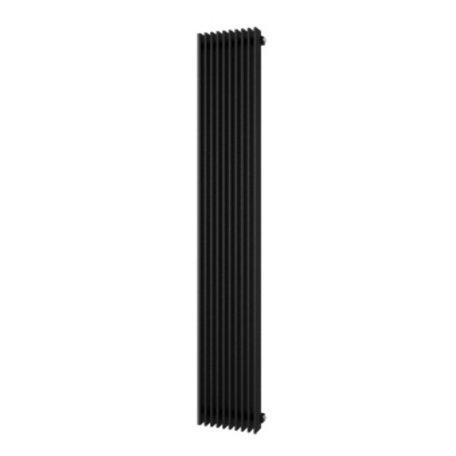 Plieger Cavallino Retto 1800 x 298 mm (614 watt) kleur zwart grafiet (black graphite) middenonder aansluiting