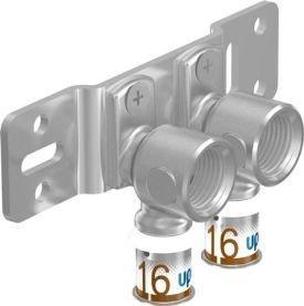 Uponor S-Press Plus Muurplaat  2 x 16 x 1/2