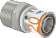 Uponor S-Press Plus overgang perskoppeling, verlopen 20 mm x 3/4