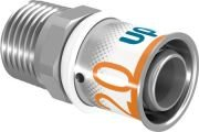 Uponor S-Press Plus overgang perskoppeling, verlopen 20 mm x 1/2