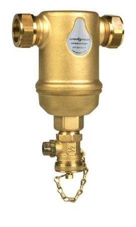 Spirovent Vuilafscheider 22 mm horizontaal AE022