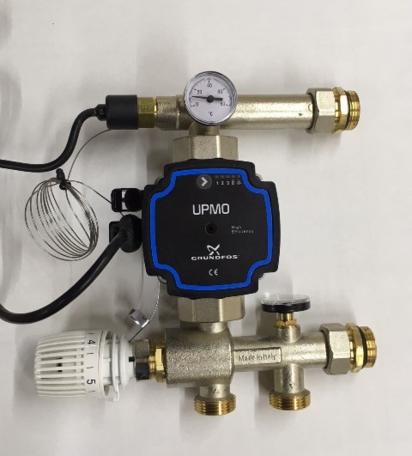 Top-Flow pompgroep Grundfoss UPMO energizuinige pomp - t.b.v. Top-Flow verdeler vloerverwarming verdeler