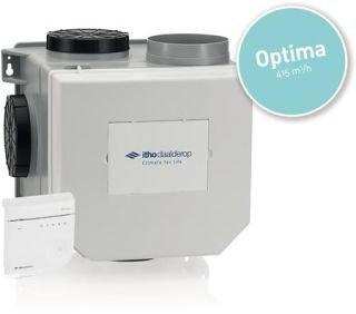 CVE-S HE OPTIMA CO2 SENSOR+RV - Itho woonhuis ventilatie box inclusief afstand bediening