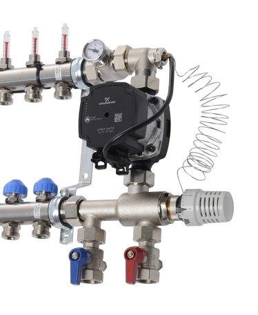 VTE Pompset met Grundfoss UPM3 energizuinige pomp - t.b.v. VTE RVS vloerverwarming verdeler