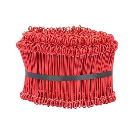 Buis binders vlechtdraad 120 mm lang - ring á 1000 stuks