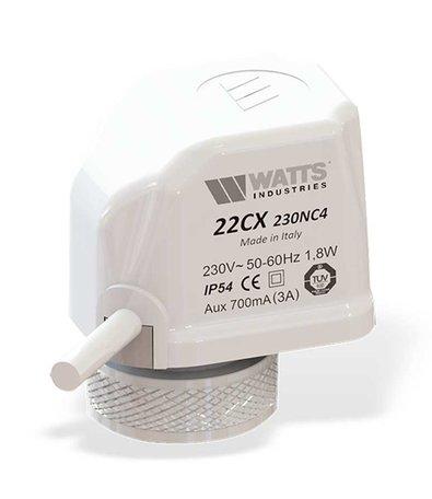 Watts thermische klep, stelmotor, 24V, 1.6Watt, M30x1.5, 22C24NC2  (800000212)