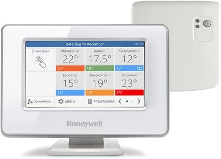 Honeywell Evohome Wifi pakket aan/uit inclusief tafelstandaard  - ATP921R3100