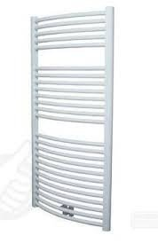Plieger Palmyra design handdoek radiator 1175 x 600 kleur wit (681 watt) gebogen