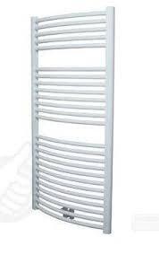 Plieger Palmyra design handdoek radiator 1175 x 600 kleur mat wit (681 watt) gebogen