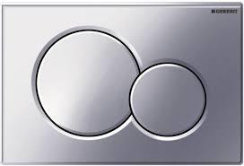 GEBERIT Sigma 01 bedieningspaneel twee knops kleur CHROOM