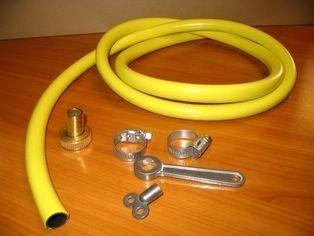 Vulslangset 5 meter pvc slang compleet met slangtule, ontluchtingssleutel