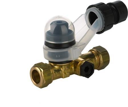 VSH inlaatcombinatie 2 x 15 mm knel maximale werkdruk 8 bar