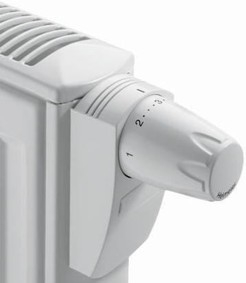 Heimeier 6740 VDX thermostaatknop DX Ral 9016 wit  M30 x 1,5 t.b.v. ventiel radiatoren
