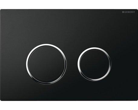 GEBERIT Sigma 20 bedieningspaneel twee knops kleur Zwart/glans/zwart