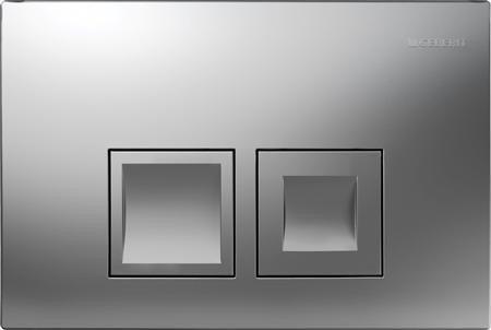 GEBERIT Delta 50 bedieningspaneel twee knops kleur MAT CHROOM