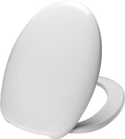 Closet zitting type 408 met deksel en RVS Soft Close scharnieren kleur wit