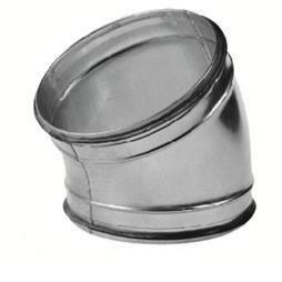 Gladde bocht met rubber afdichting 125 - 30 graden.