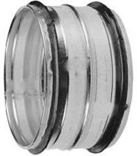 Steek verbinding voor buis 100 mm - met rubber afdichting