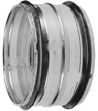 Steek verbinding voor buis 125 mm - met rubber afdichting