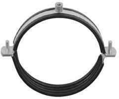Ophangbeugel voor buis  100 mm - M8 moer - met rubber inlage