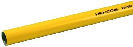 Henco Alupex Gas buis 26 x 3 mm kleur geel - lengte 5 meter