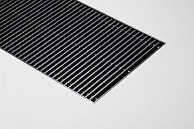 Jaga Canal Plus convectorput 241 x 35 x 68 cm (2445 watt) Zwart aluminium oprolbaar