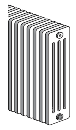 Radson Delta H 400 hoog x1100 breed x 139 mm diep 4 kolom (1285 watt) 22 elementen