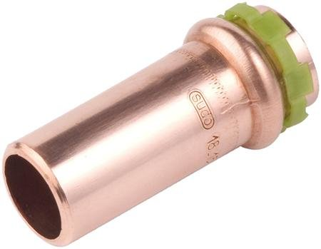VSH Sudopress koper, rechte insteekverloop koppeling 35 x 22 mm  mof x spie (6671027)