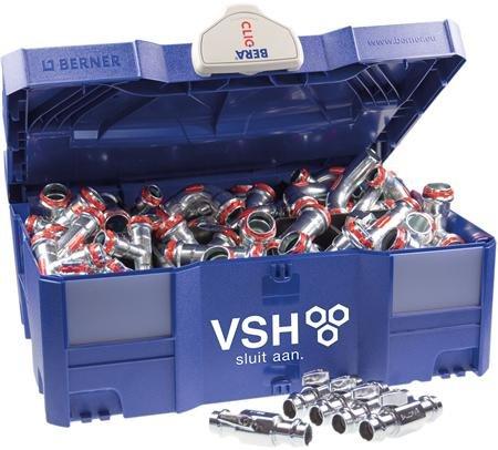 Sudopres starters koffer Staal verzinkt met 70 diversen fittingen