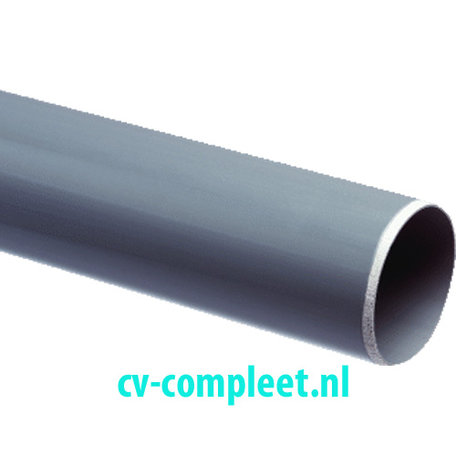 Pvc- afvoerbuis 75 x 3,0 mm SN4 lengte = 1 meter Maximaal 10 stuks