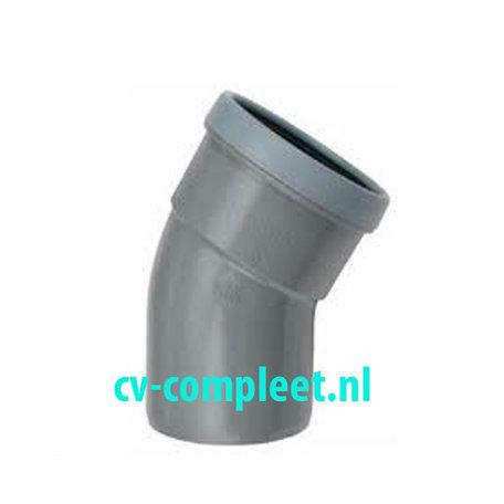 PVC bocht 110 mm 30¡ manchet mof/spie