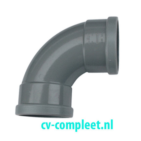 PVC bocht 110 mm 90¡  - manchet 2 x mof