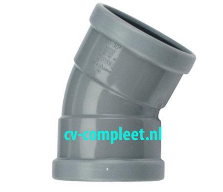 PVC bocht 110 mm 30¡ manchet 2 x mof