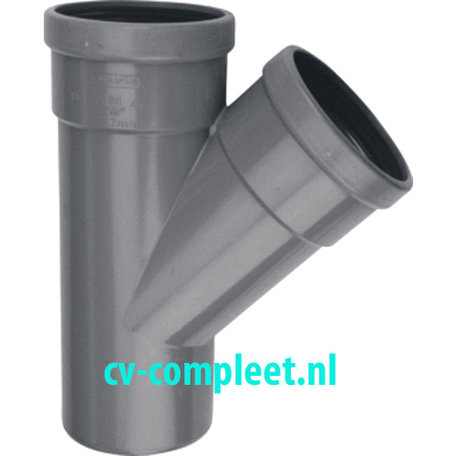 PVC manchet T Stuk 250 x 160 mm 45¡ 2 x mof/spie