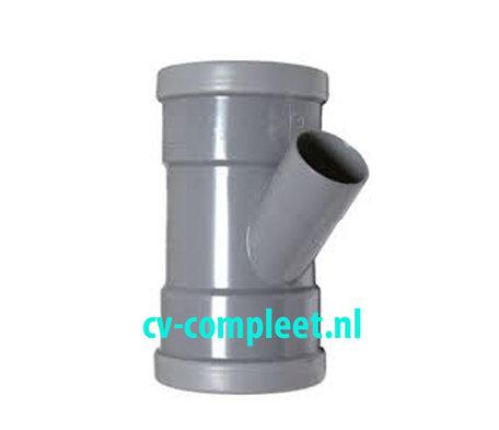 PVC manchet T Stuk 110 x 50 mm 45¡ 3 x mof